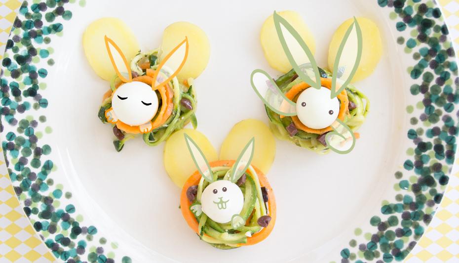 Insalata di spaghetti e l'ovetto di Pasqua